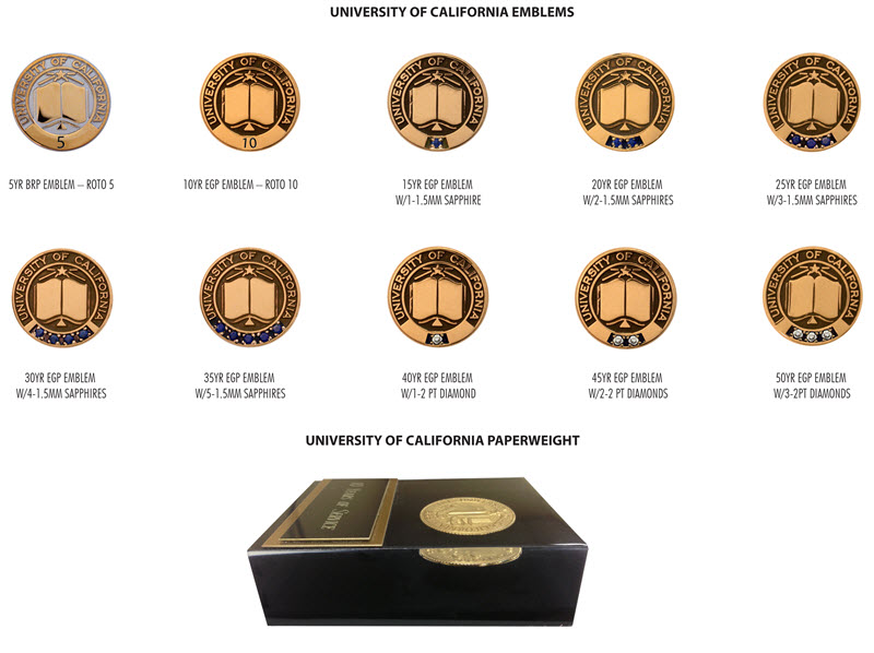 UC Service Lapel Pins & Paperweight